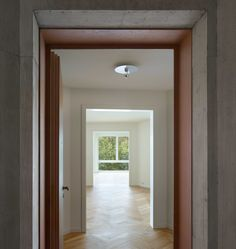 Mathis Kamplade > Housing in Oerlikon Suiza Zurich, Partition Door, Hall Flooring, Hotels, Interior Architecture, Townhouse, Living Spaces, Floor Plans, Mansions