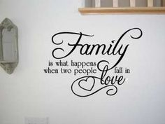 family wall quotes and sayings | FAMILY LOVE QUOTE VINYL WALL QUOTE DECAL STICKER ART DECOR Wall