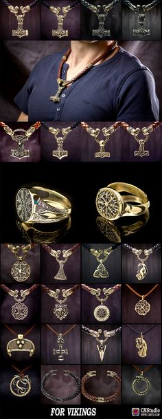 – Awesome stuff for the Vikings or Viking in the heart, must! Medieval Jewelry, Viking Jewelry, Ancient Jewelry, Viking Life, Viking Warrior, Viking Symbols, Viking Runes, Symbole Viking, Viking Culture