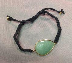 Stone Macramé Bracelet by BoilerChic on Etsy, $15.00