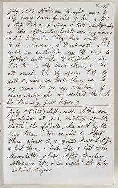 Lewis Carroll (1832-1898) - Charles Dodgson, nome real do matemático e autor de Alice no País das Maravilhas, deixou para a posteridade 13 volumes de seus diários quando morreu em 1898. Destes, apenas 9 chegaram ao público