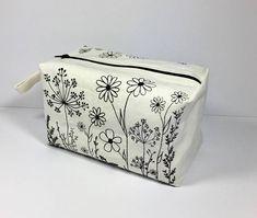 Screen Printed Large Boxed Make Up Bag/Comestic Bag/Travel