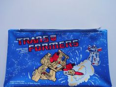 Vintage Transformers Pencil Pouch 1985 by WylieOwlVintage on Etsy, $12.00