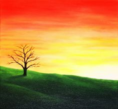 Sunset by georgmaxklein on deviantART Sunrise Painting, Fantasy Landscape, Landscape Paintings, Deviantart, Sunset, Paint, Landscape, Sunsets, Landscape Drawings