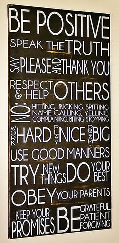 our family rules- I like most of these rules. I've seen many of these but this seems to fit my family/boys best!