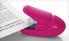 Groupon - $ 5.99 for a Plus America Paper Clinch Staple-Free Stapler ($ 11.99 List Price). Three Colors Available. Free Returns.. Groupon deal price: $5.99