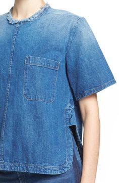 Women's Rachel Comey 'Brant' Denim Short Sleeve Shirt