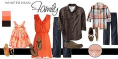 family photo session what to wear jeans brown orange fall Family Photos What To Wear, Summer Family Photos, Family Pictures, Fall Family, Family Portrait Outfits, Family Picture Outfits, Family Portraits, Latest Fashion For Women, Latest Fashion Trends