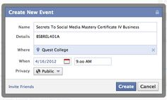 Facebook How To – Create an Event page ( social media )