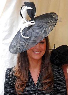 black & white hat + fascinator #style