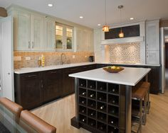 Cream and Brown Kitchen Design  Can I make my cabinets Shaker?