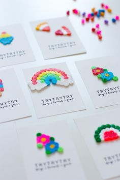 Make business cards with beads yourself! - Make business cards with beads yourself! Perler Bead Designs, Hama Beads Design, Pearler Bead Patterns, Diy Perler Beads, Perler Bead Art, Diy And Crafts, Crafts For Kids, Cool Crafts, Recycled Crafts