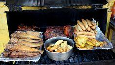 More street food in Jamaica.