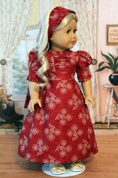 Regency Dress and Hair Tie for Caroline by BabiesArtUs on Etsy, $55.00