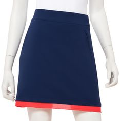 "If you're in the market for some new outfits, consider our women's apparel! Shop this comfortable and stylish LINE DRIVE (Inky Multi) EP New York Ladies & Plus Size 19"" Tech Stretch Pull On Golf Skort from Lori's Golf Shoppe."
