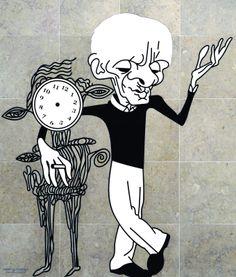 Caricaturas do Metro Aeroporto», de António Antunes - Cesariny-