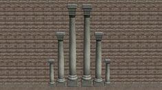 Romanesque Columns, 2 and 3 Storeys