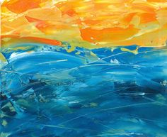 Evening Sea (sketch), oil on paper 2011