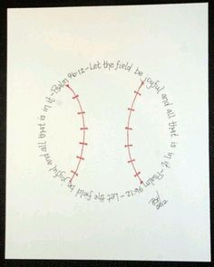 baseball nursery | Baseball nursery idea- this is going on the wall for ... | Grand Wee ...