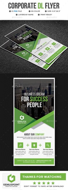 Buy Corporate DL Flyer by GeniusPoint on GraphicRiver. Features: DL Flyer Template Easy Customizable and Editable Print size: inches Final size: inches CM. Brochure Design, Flyer Design, Branding Design, Free Flyer Templates, Print Templates, Letterhead Template, Brochure Template, Corporate Flyer, Corporate Design