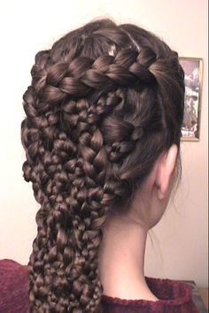 Modern Casual Hairstyles - Page 19 of 61 - new girl hairstyles Love Hair, Great Hair, Gorgeous Hair, My Hair, Casual Hairstyles, Pretty Hairstyles, Braided Hairstyles, Cool Braids, Crazy Braids