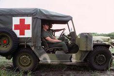 U.S. Army medics in an M718A1 ambulance (M151A2), 1 August 1978