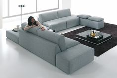 Das Bettsofa System Brera von Pol74. The bedsofa system Brera from Pol74.