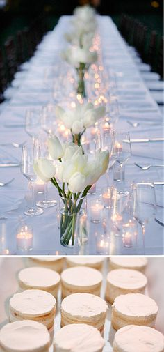 simple yet beautiful white table setting