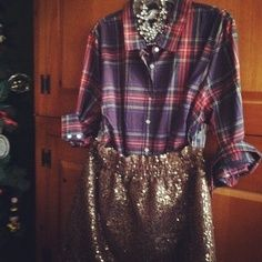What do you wear with a sequined skirt?   GBCN