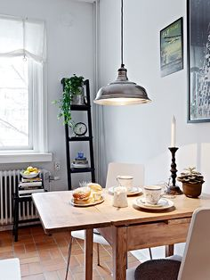 Love this simple dining area arrangement. Perfect for small apartments. 54 square meters small home design (8)