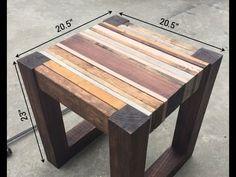 Tisch selbst bauen. Diy Tisch selber bauen. Tisch bauen holz ...