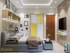 Jasa Arsitek Tangerang Desain Rumah Mr Hr Unique House Design, Modern Bedroom Design, Cool House Designs, Modern Design, Small Room Bedroom, Bedroom Decor, Style Villa, Maids Room, Tropical Design