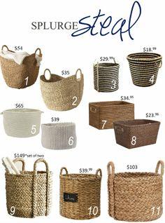 Home Decor Baskets, Baskets On Wall, Wicker Baskets, Diy Storage Drawers, Storage Baskets, Storage Units, Boho Chic Bedroom, Diy Bedroom Decor, Fall Home Decor