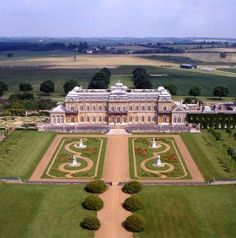 Another grand house, like Justice Hall, with landscaping by 'Capability' Brown.