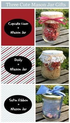 Three Cute Ways to Decorate Mason Jars