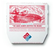 Domino's Pizza Proverb Packaging