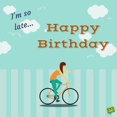 I'm so late... Happy Belated Birthday.