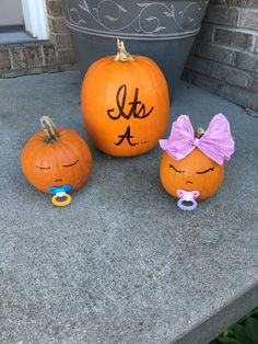 Gender reveal pumpkin