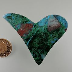 Plume Malachite with Chrysocolla 100% Natural Hand by 49erMinerals