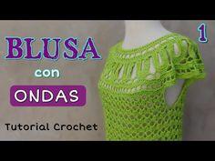 Hoy vamos a tejer una blusa a crochet para talle M. Cuando esten listas las indicaciones para otros talles lo publicare en mi página web. -------------------...