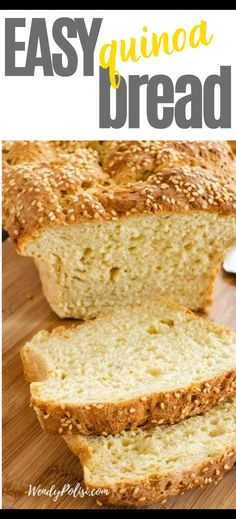 I really want to try new gluten-free bread recipes and this Gluten Free Quinoa Bread looks so good! I can't wait to cook this easy recipe for my family. It looks like the perfect way to enjoy bread on a gluten free diet. SO PINNING! Quinoa Recipes Easy, Gluten Free Recipes For Breakfast, Healthy Gluten Free Recipes, Easy Bread Recipes, Gluten Free Dinner, Dinner Recipes, Quinoa Bread, Yummy Food, Cook