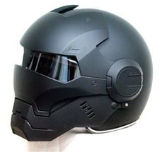 Masei 610 Iron Man Motorcycle Helmet Matt Black