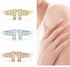 Tiffany & Co 指輪・リング 人気!Tiffany & Co ティファニー♥18k T Wire リング♪3色