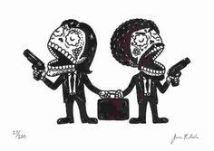 Day Of The Dead Art, Skull Art, Sugar Skulls, Santa Muerte, Pula, Pulp Fiction Tattoo, Mundo Tattoo, Mexican Folk Art, Quentin Tarantino