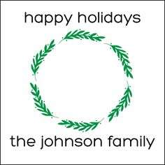 Holiday Wreath Personalized Holiday Labels by #GothamPops on Etsy