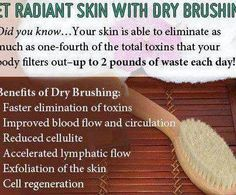 paleo hair, skin and beauty radiant skin with dry brushing