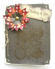 Handmade Thinking of You Greeting Card by PaperImaginations