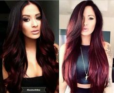 Red Red Color, Cosmetology, Wig Styles, Long Hair Styles, 2015 Hair Color Trends, Wigs, Burgundy Hair, Girly Things, Girly Stuff