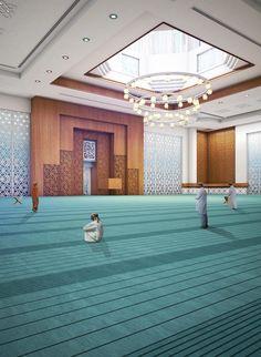 Al Hail Green Mosque – Yaghmour Architects Mosque Architecture, Religious Architecture, Interior Architecture, Beautiful Mosques, Beautiful Places, Bridge Design, Brick Facade, Moroccan Design, Prayer Room