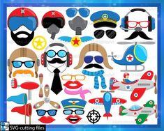 Digital Decorations, Plane And Pilot, Photo Booth Props, Props Photobooth, Art Clipart, Clipart Images, Digital Stamps, Mask Design, Clip Art
